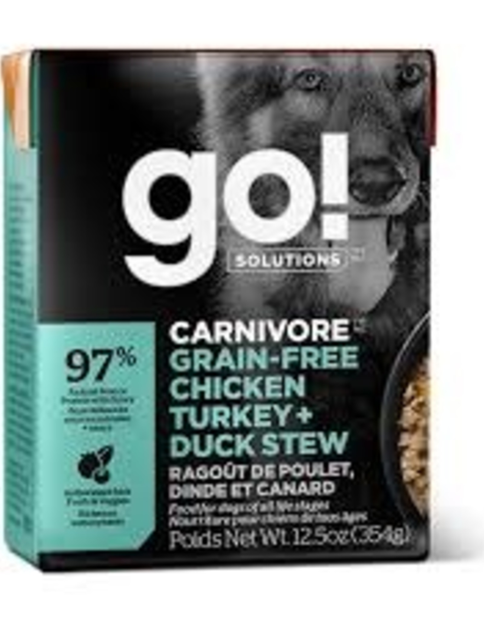 GO GO! Tetra Turkey, Chicken & Duck  Stew Skin & Coat Dog 12.5 OZ