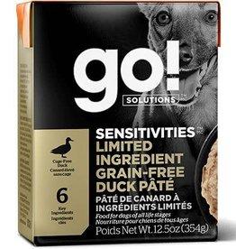 GO GO LID Tetra Dog 12.5 oz Duck Pate 12.5 oz