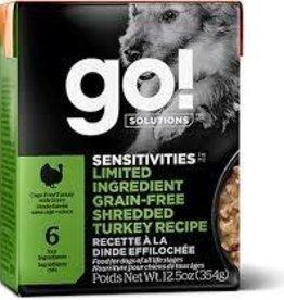 GO GO LID Tetra Dog 12.5 oz Shredded Turkey 12.5 oz