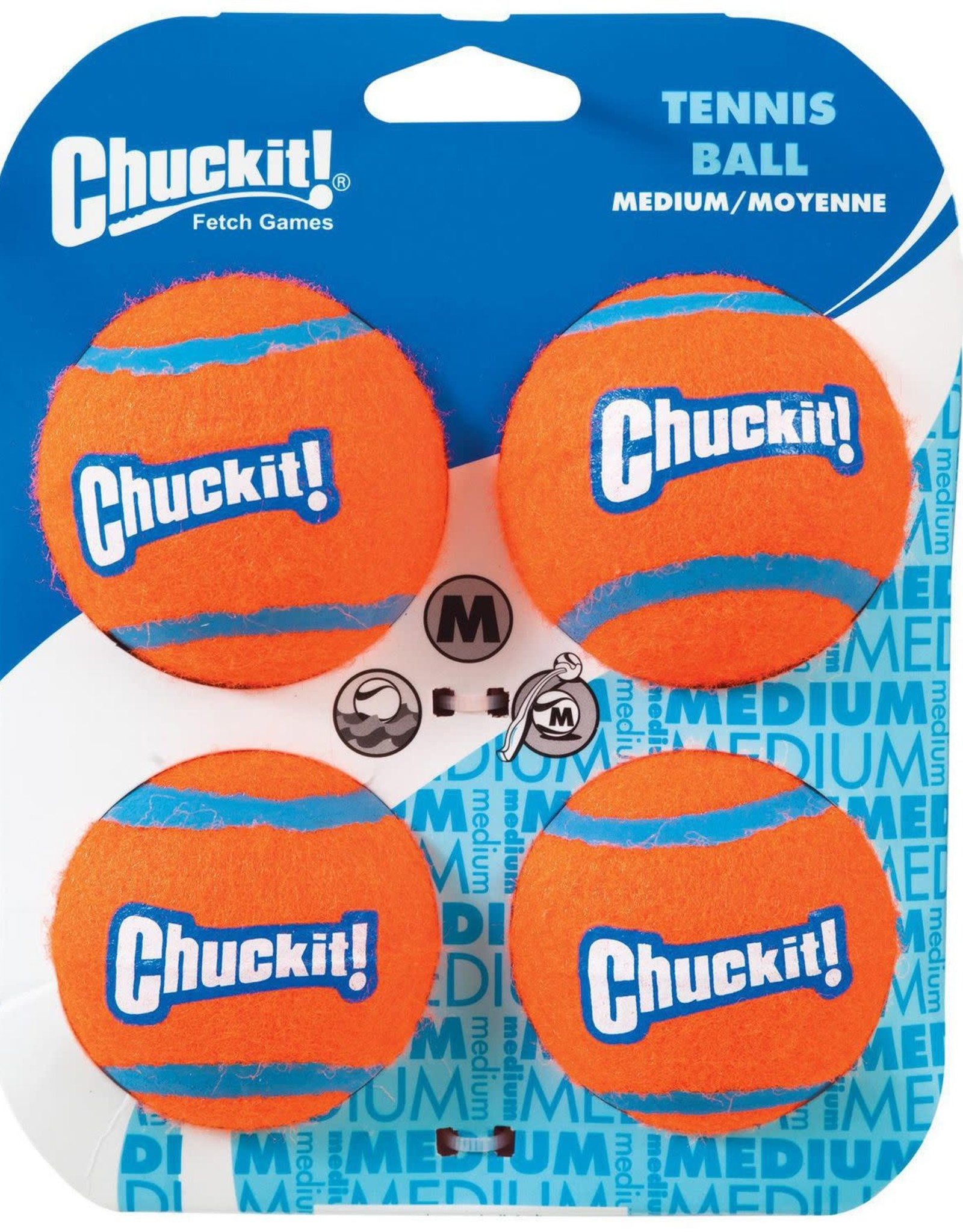 """Chuck It! Chuckit! Tennis Balls 2.5"""" 4 Pack"""