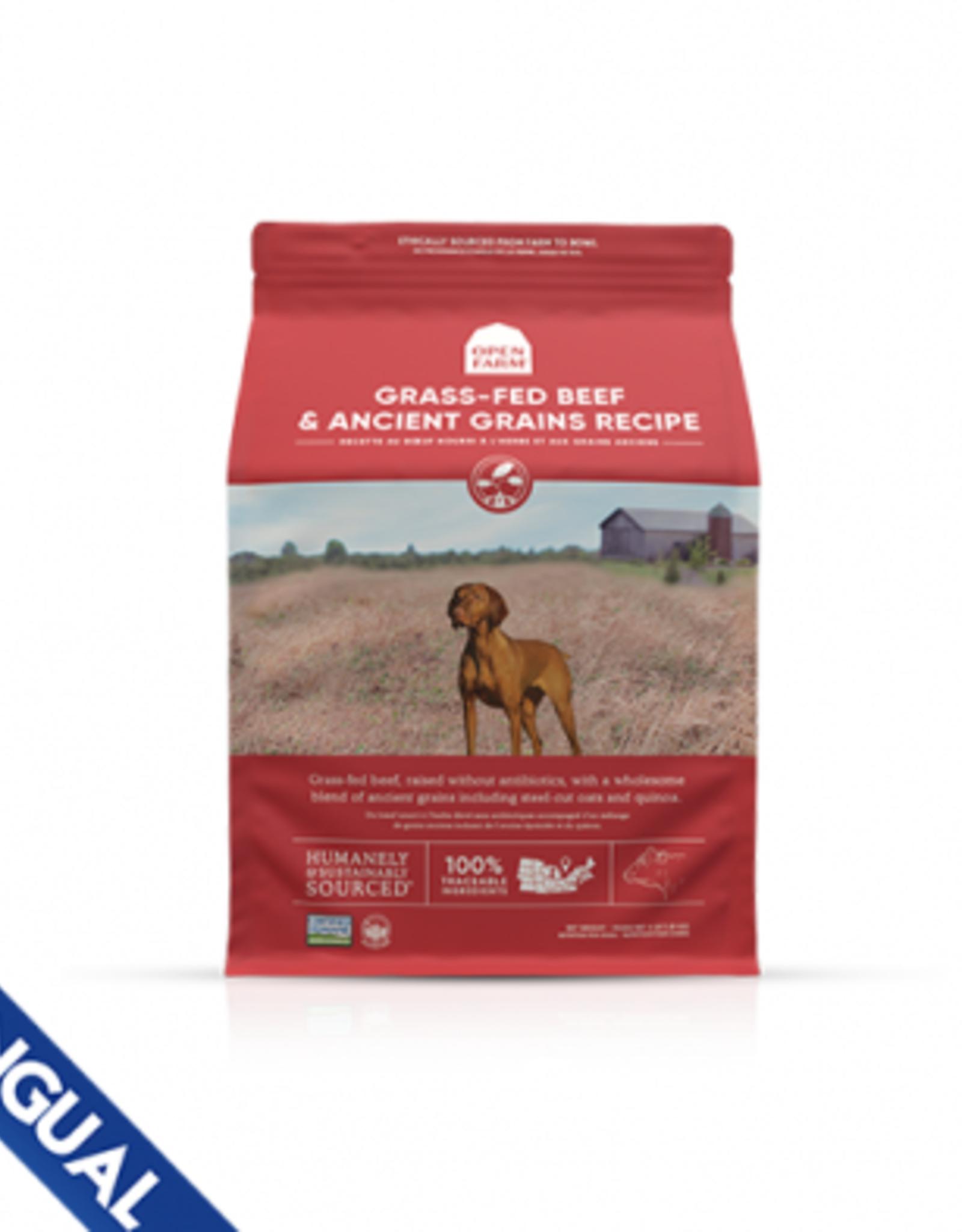Open Farm Open Farm Ancient Grains Grass Fed Beef  Dog 22 LB