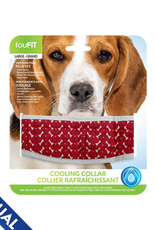 """foufou FouFit Cooling Collar Red Large 15""""-18"""""""