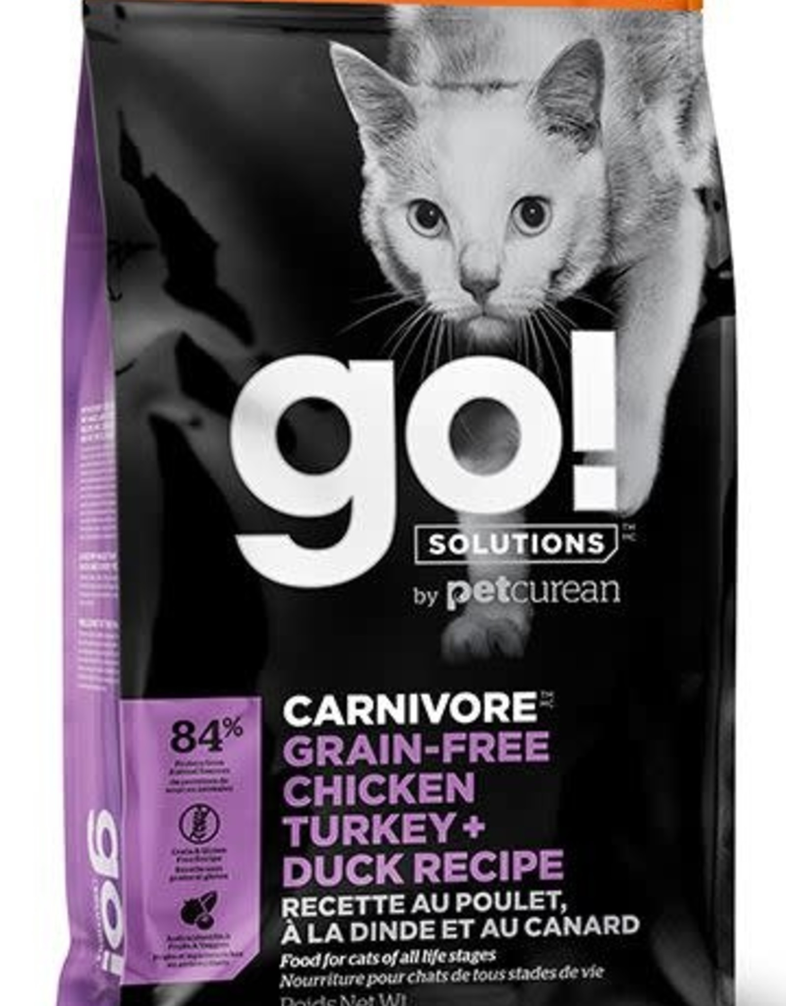 GO Go! Carnivore Grain Free Chicken Turkey Duck Cat  8LB