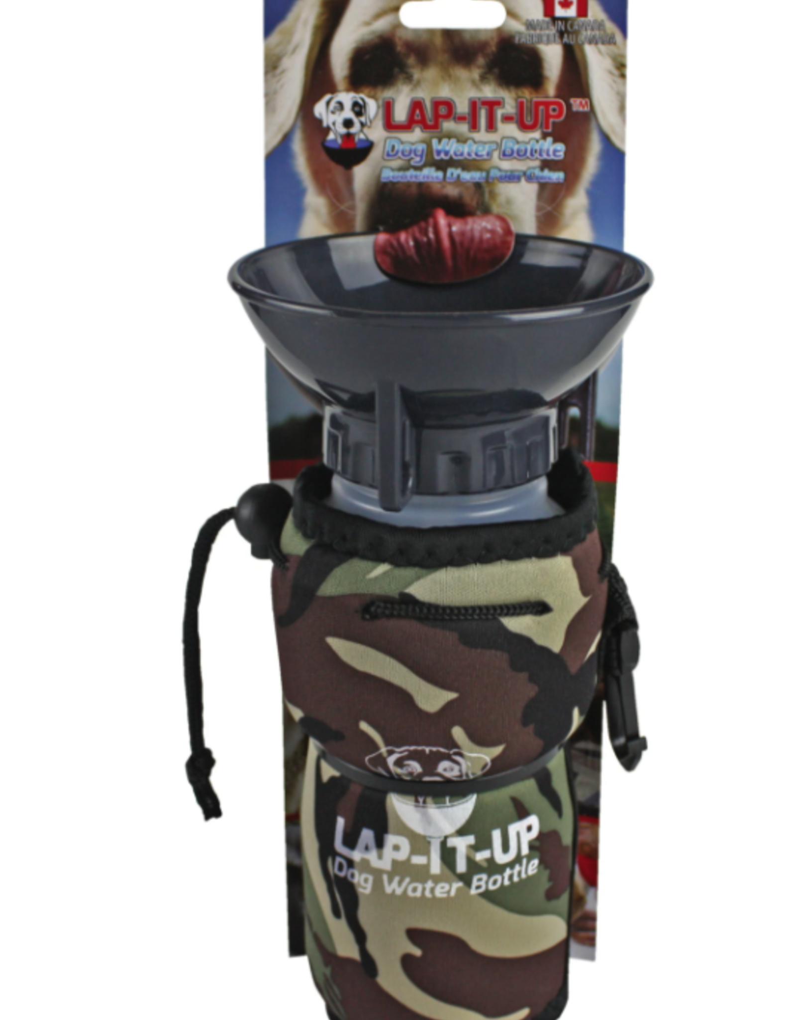 Lap It  Up Lap It Up Dog Water Bottle Camo Khaki