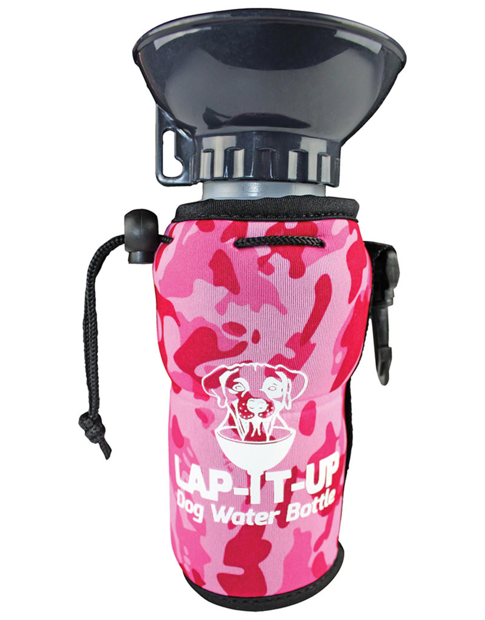 Lap It  Up Lap It Up Dog Water Bottle Camo Pink