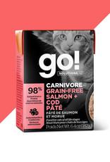 GO GO! Carnivore GF Salmon & Cod Pate Cat 6.4 oz