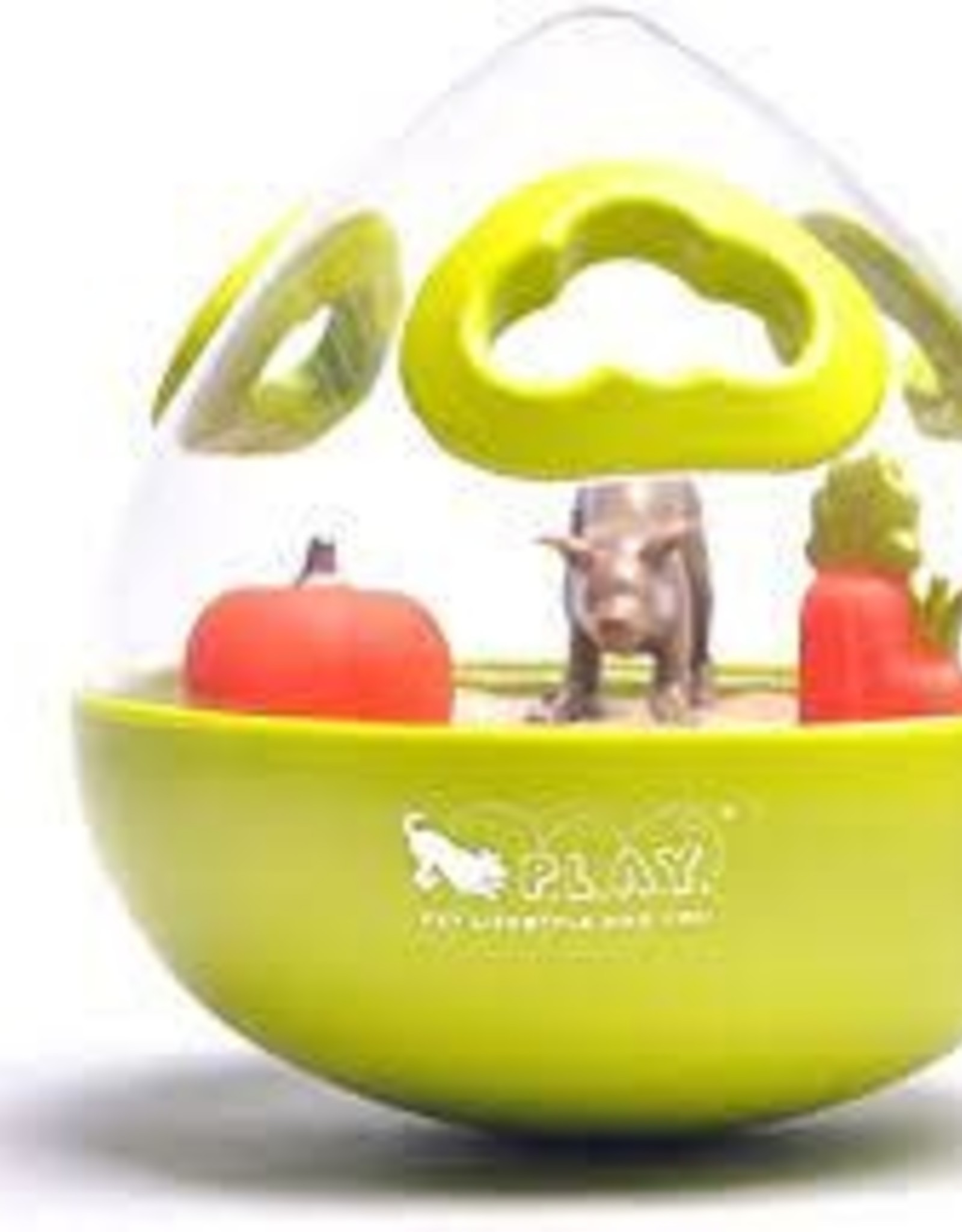 Pet Play Pet Play Wobble Ball 2.0 Enrichment Treat Toy Green