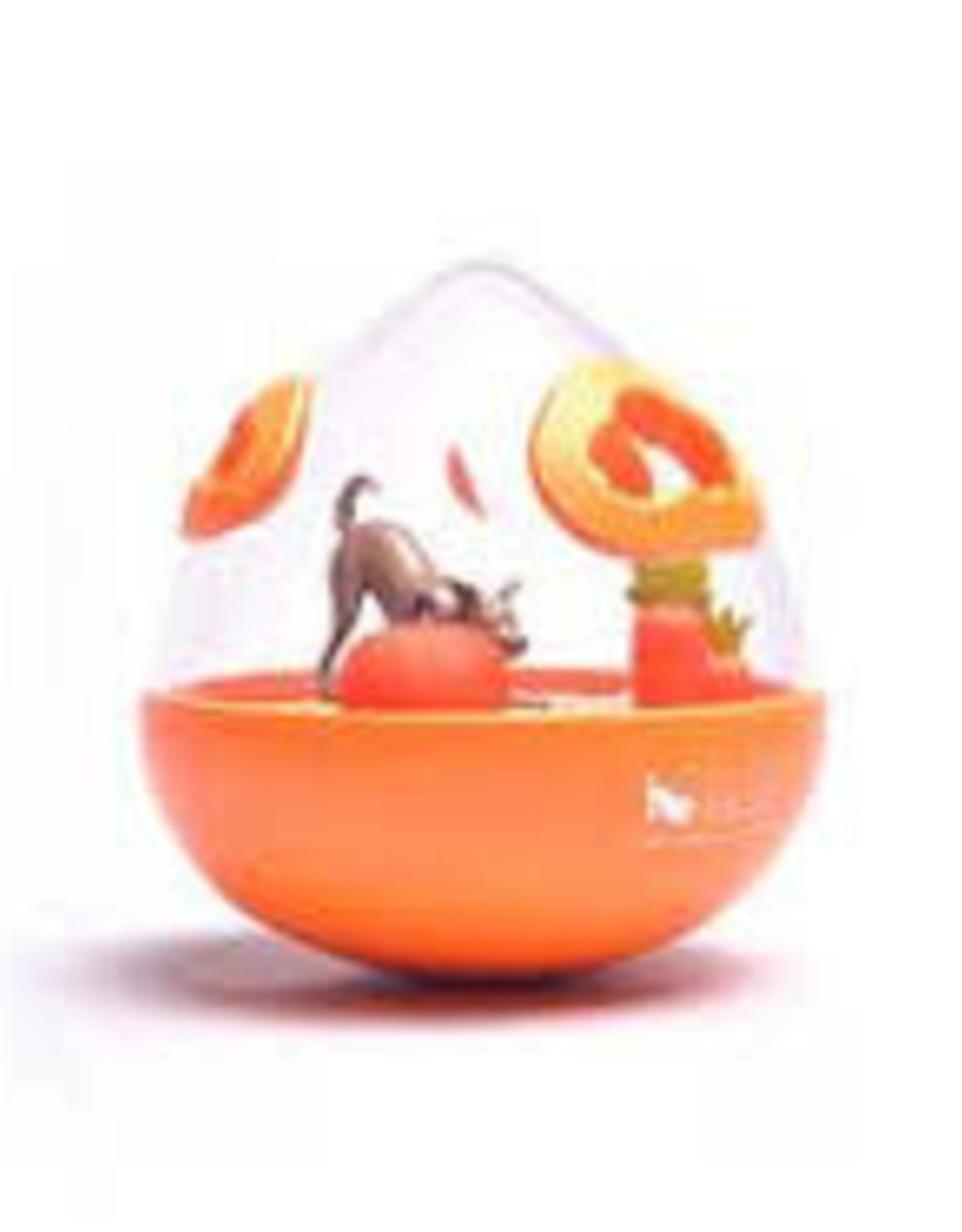 Pet Play Pet Play Wobble Ball 2.0 Enrichment Treat Toy Orange