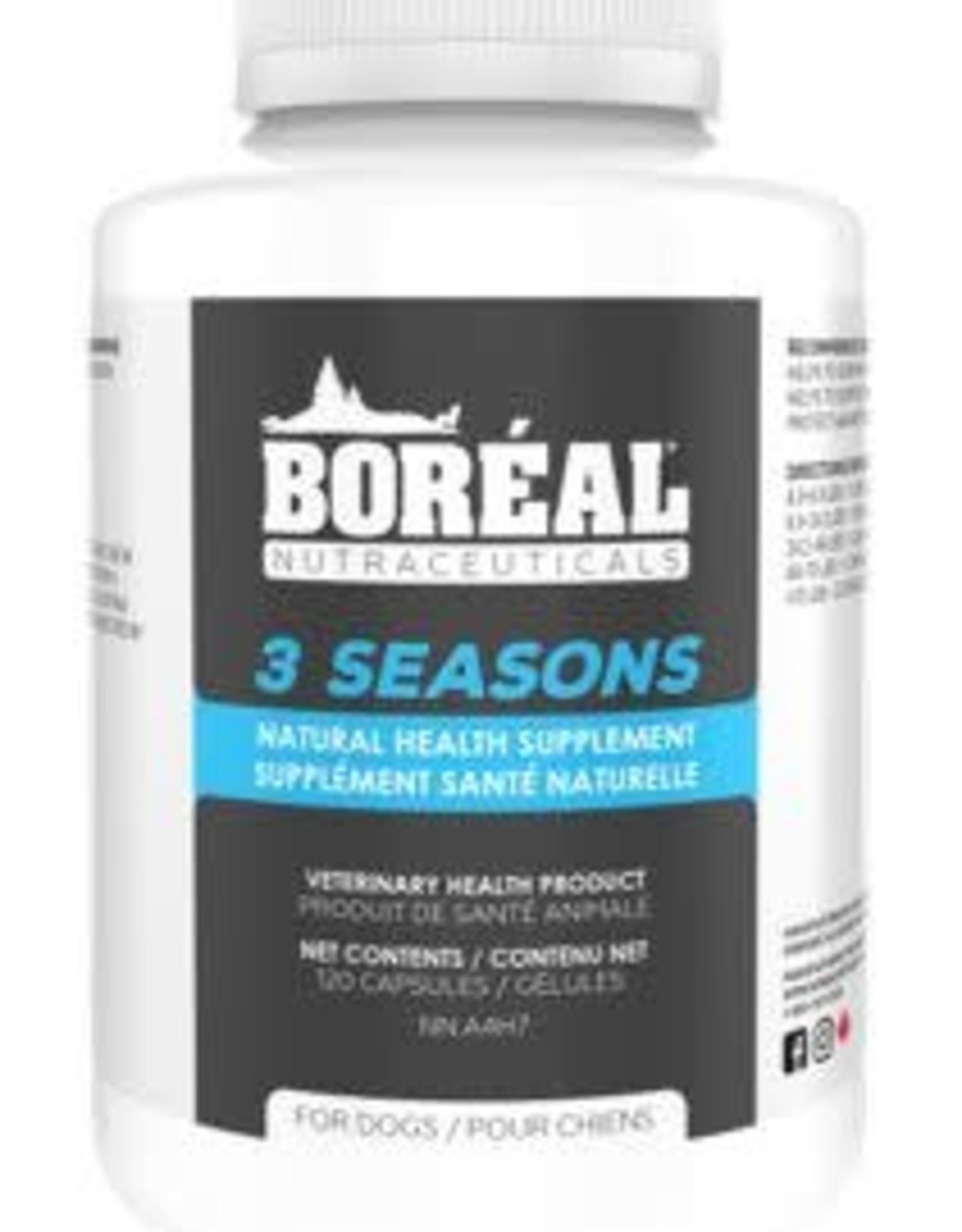 Boreal Boreal 3 Seasons Natural Health Supplement 60 Capsules Dog