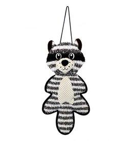 Cosmic Cosmic Cat Door Floor Scratcher Raccoon With Catnip