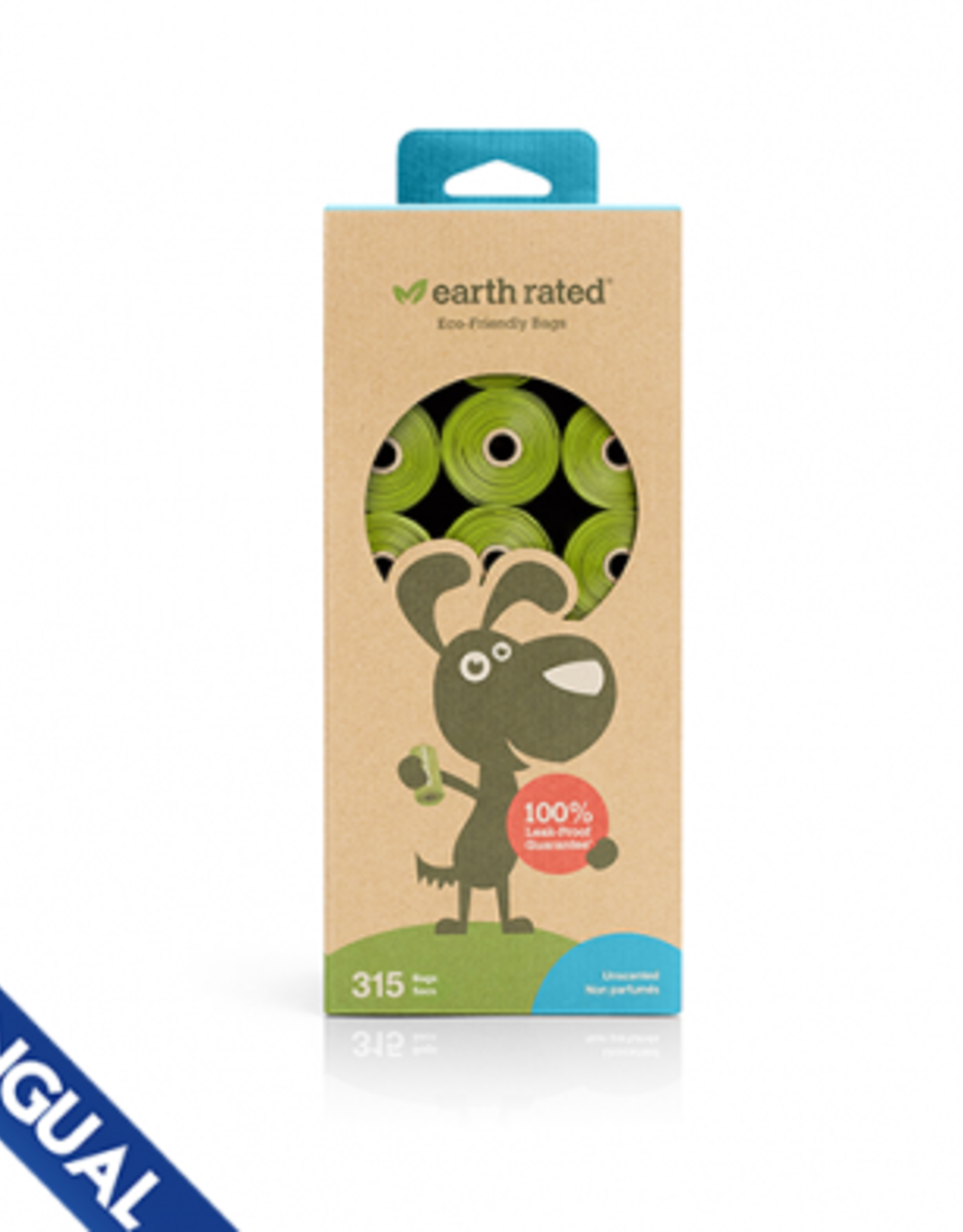 Earth Rated Earth Rated Unscented Refill Rolls 315 Bags/21 Rolls