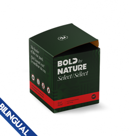 Bold Raw BOLD BY NATURE SELECT BEEF FROZEN DOG FOOD 4 LB BOX (8 X 8 OZ PATTIES)