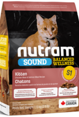 Nutram Nutram S1 Kitten 12 LB