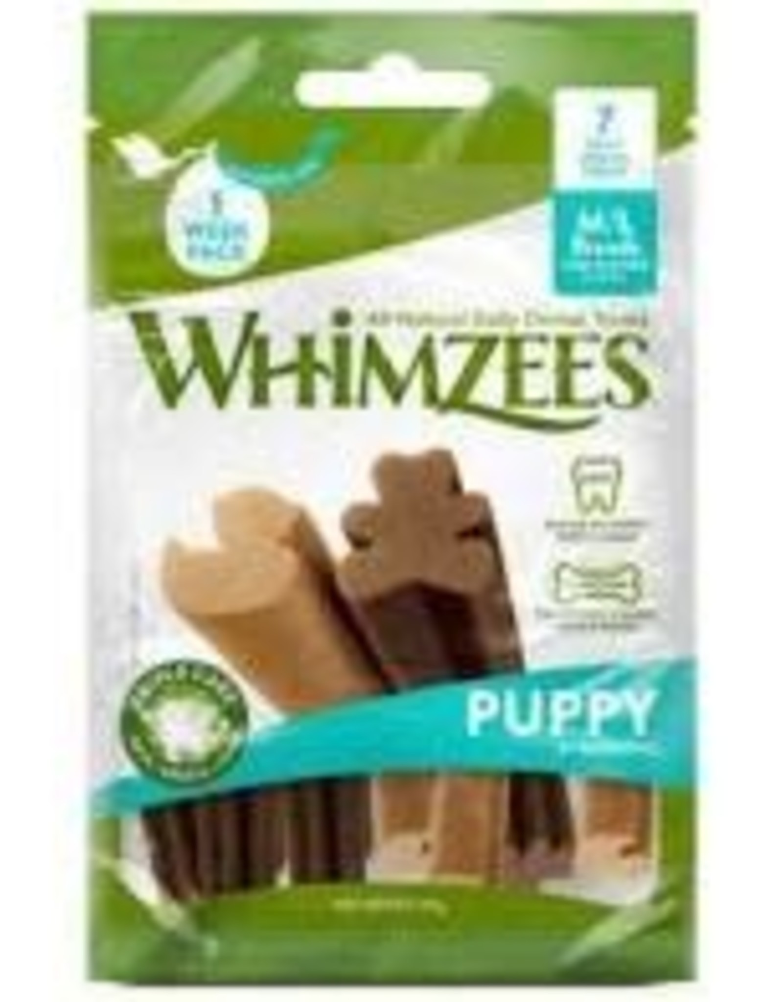 Whimzee Whimzees Puppy M/L  Pouch 14 pc 7.4 oz