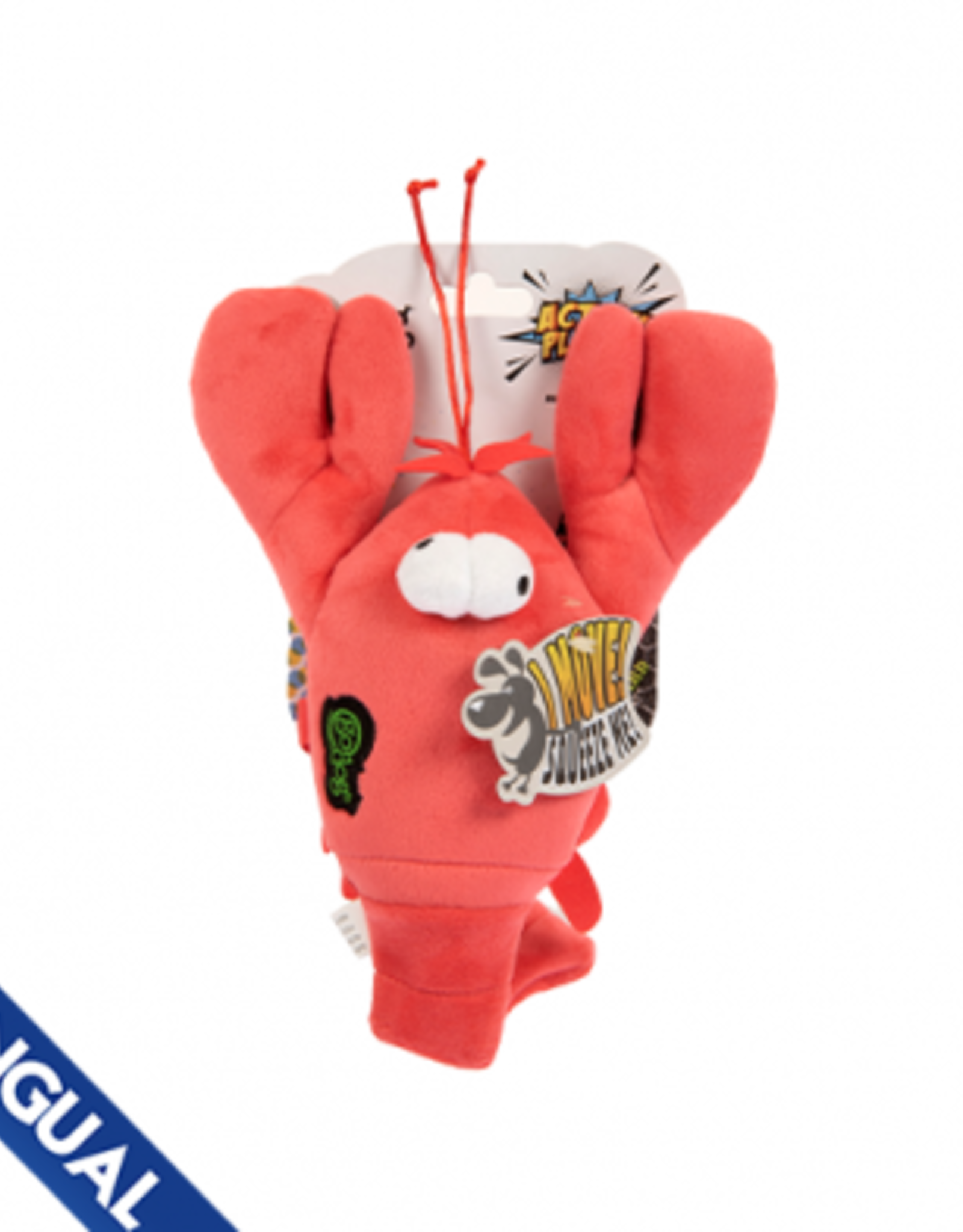 GoDog Go Dog Chew Guard Action Plush Lobster