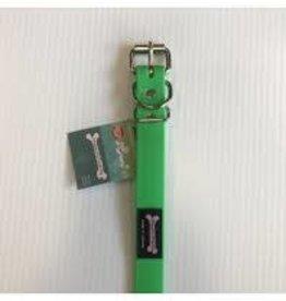 """Smoochy Poochy Smoochy Poochy Poly Collar 10-14"""" x 5/8 """" Green Apple"""
