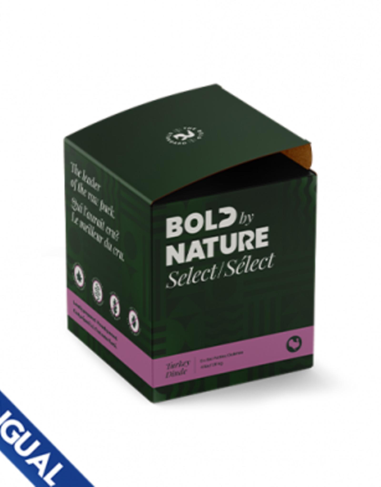 Bold Raw BOLD BY NATURE SELECT TURKEY FROZEN DOG FOOD 4 LB BOX (8 X 8 OZ PATTIES)
