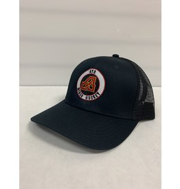 FLAMES MESH BACK HAT - BLACK