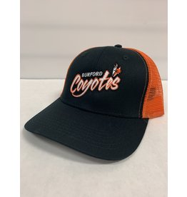 COYOTES MESH BACK HAT - BLACK/ORANGE