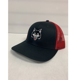 WOLFPACK MESH BACK HAT - BLACK/RED