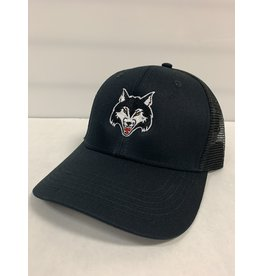 WOLFPACK MESH BACK HAT - BLACK