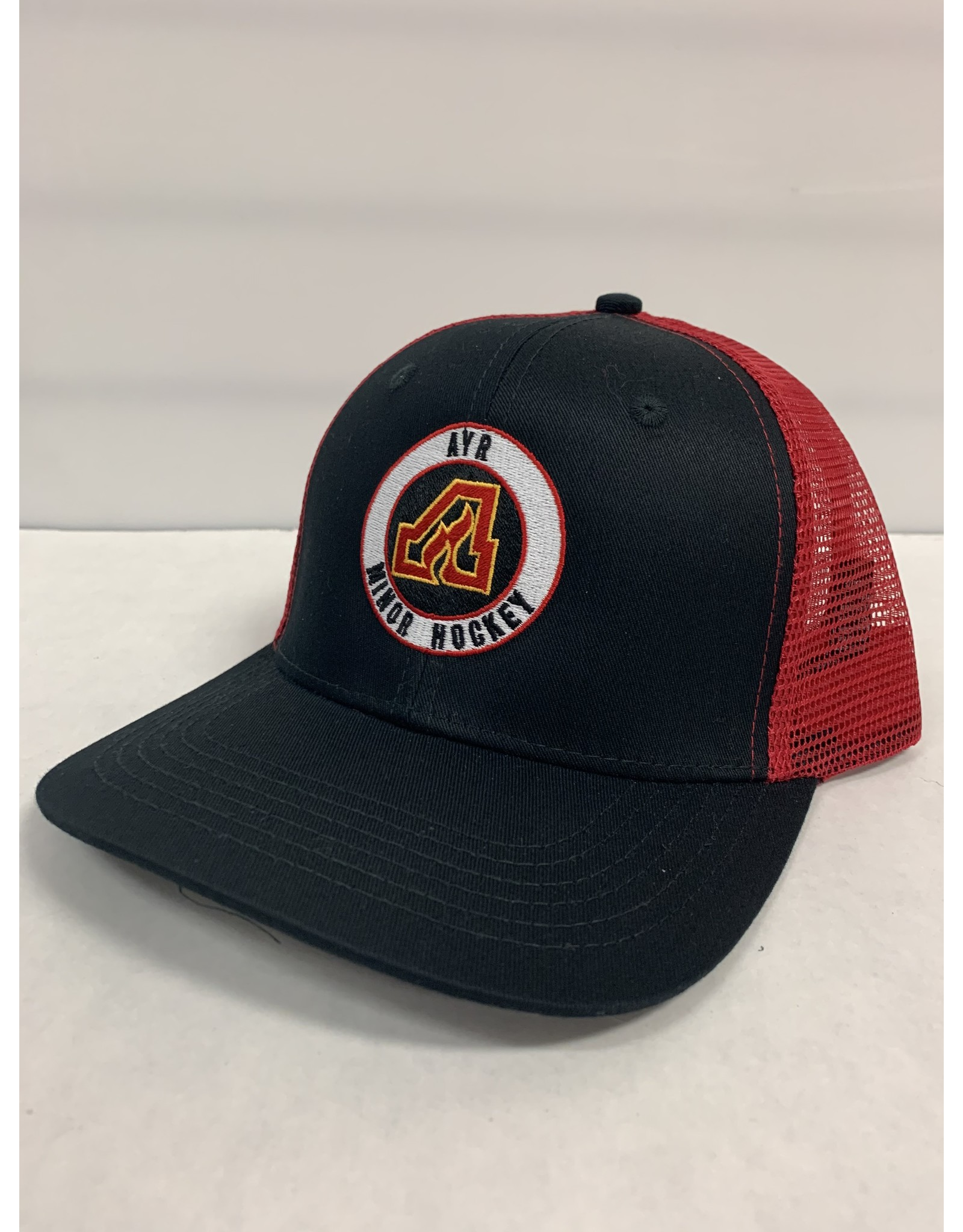 FLAMES MESH BACK HAT - BLACK/RED