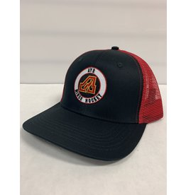 FLAMES MESH BACK HAT - BLACK/RED
