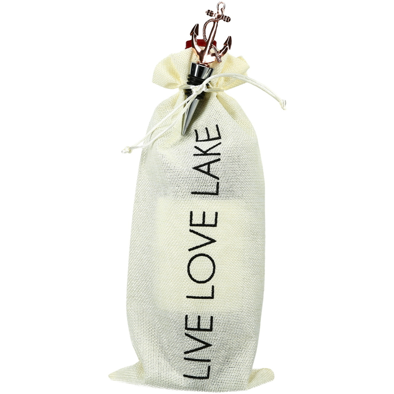 Pavilion Gift Co. Barware: Lake- Wine Gift Bag Set