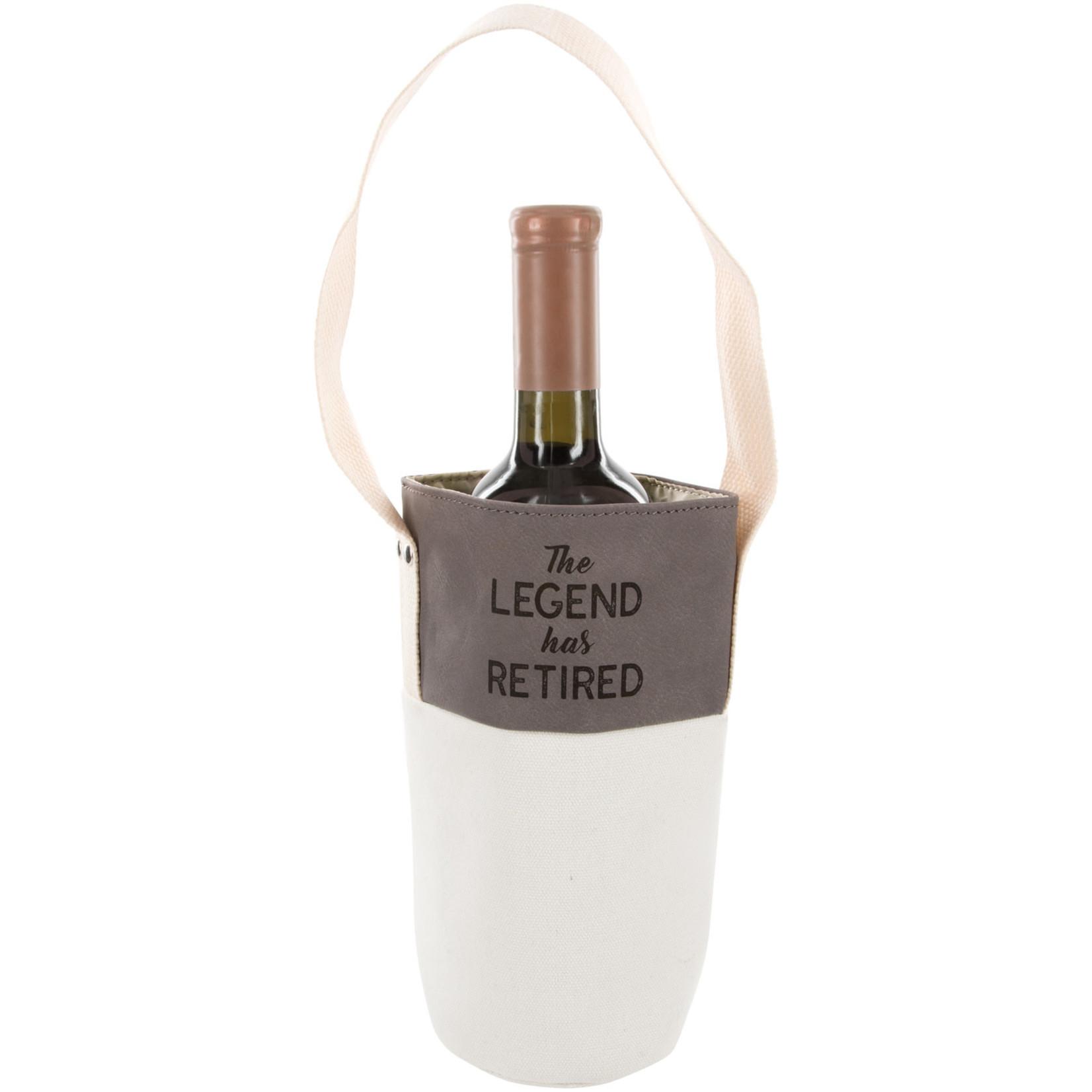 Pavilion Gift Co. Retirement: The Legend- Canvas Bottle Gift Bag