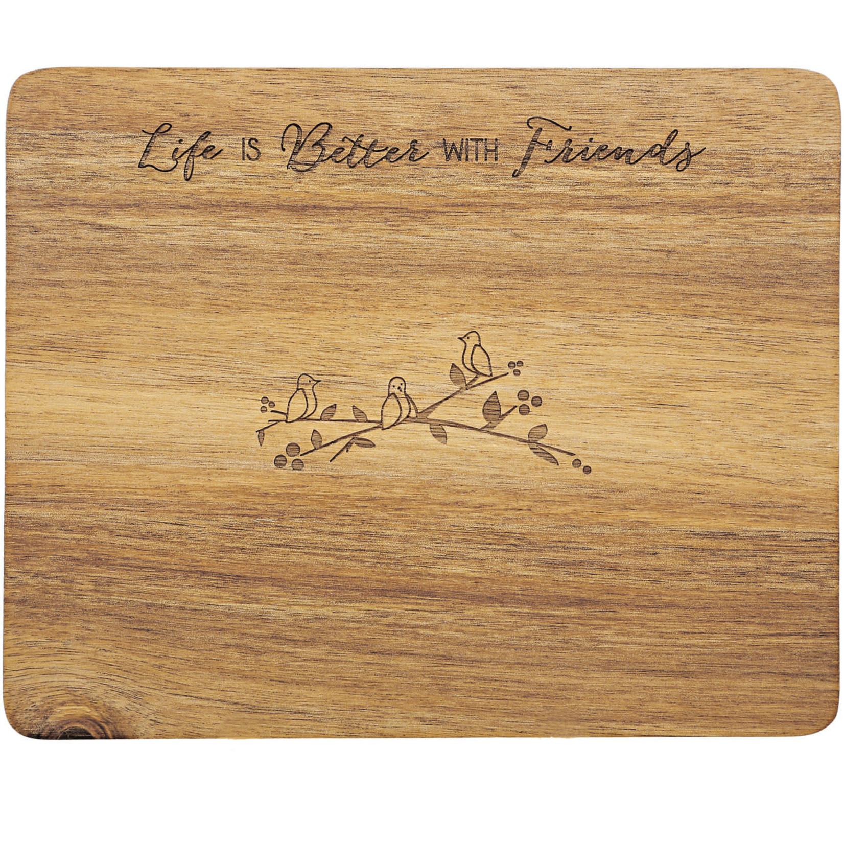 "Pavilion Gift Co. Kitchen: Friends- 9"" Cheese/Bread Board Set"