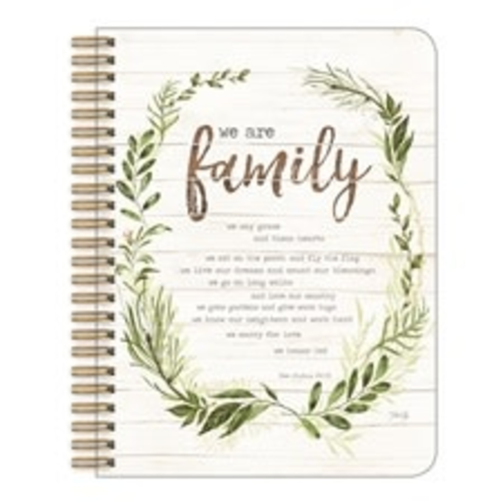 """Legacy Publishing Group Stationary: """"We Are Family"""" Medium Notebook"""
