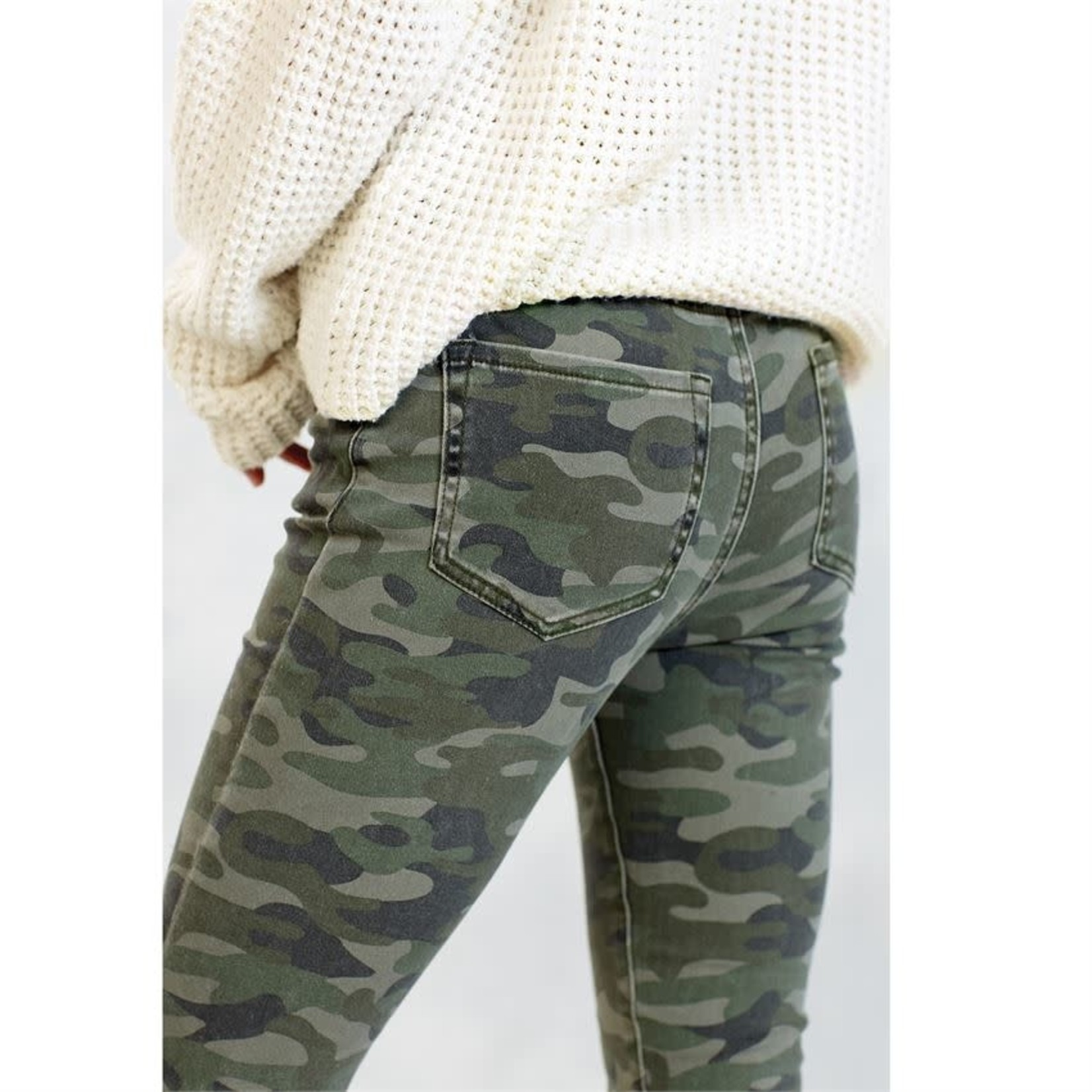 Mud Pie Rory Green Camo Jeans