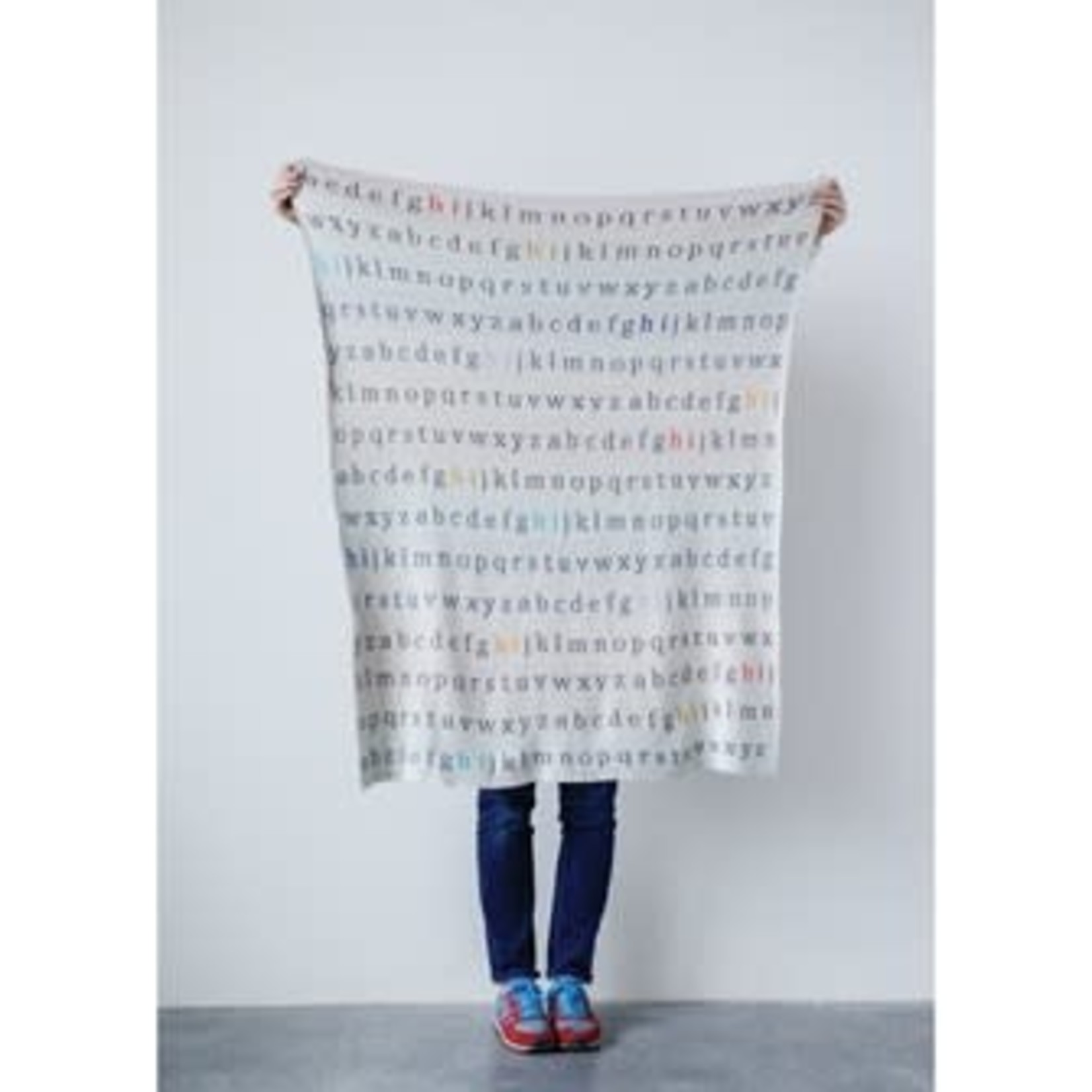 Creative Co-op Cotton Knit Blanket