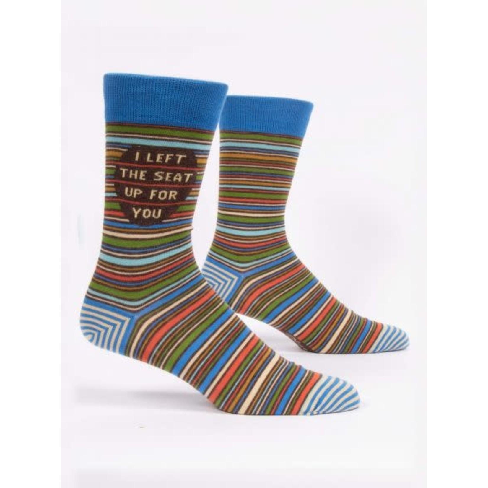 BlueQ Men's Funny Crew Socks