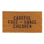 Creative Brands Door Mat: Careful Free Range Children