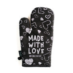 Twisted Wares Snarky: Made With Love Oven Mitt