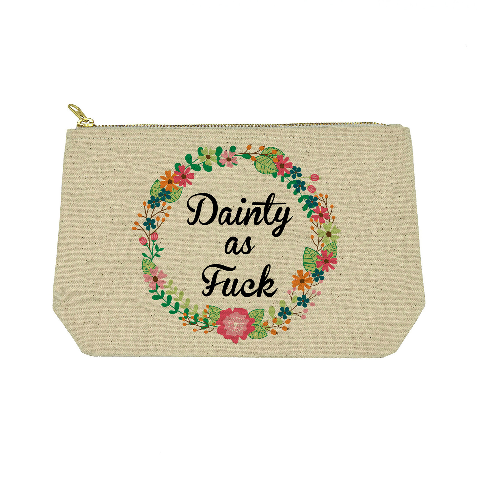 """Twisted Wares """"Dainty As F*ck"""" Canvas Bag"""