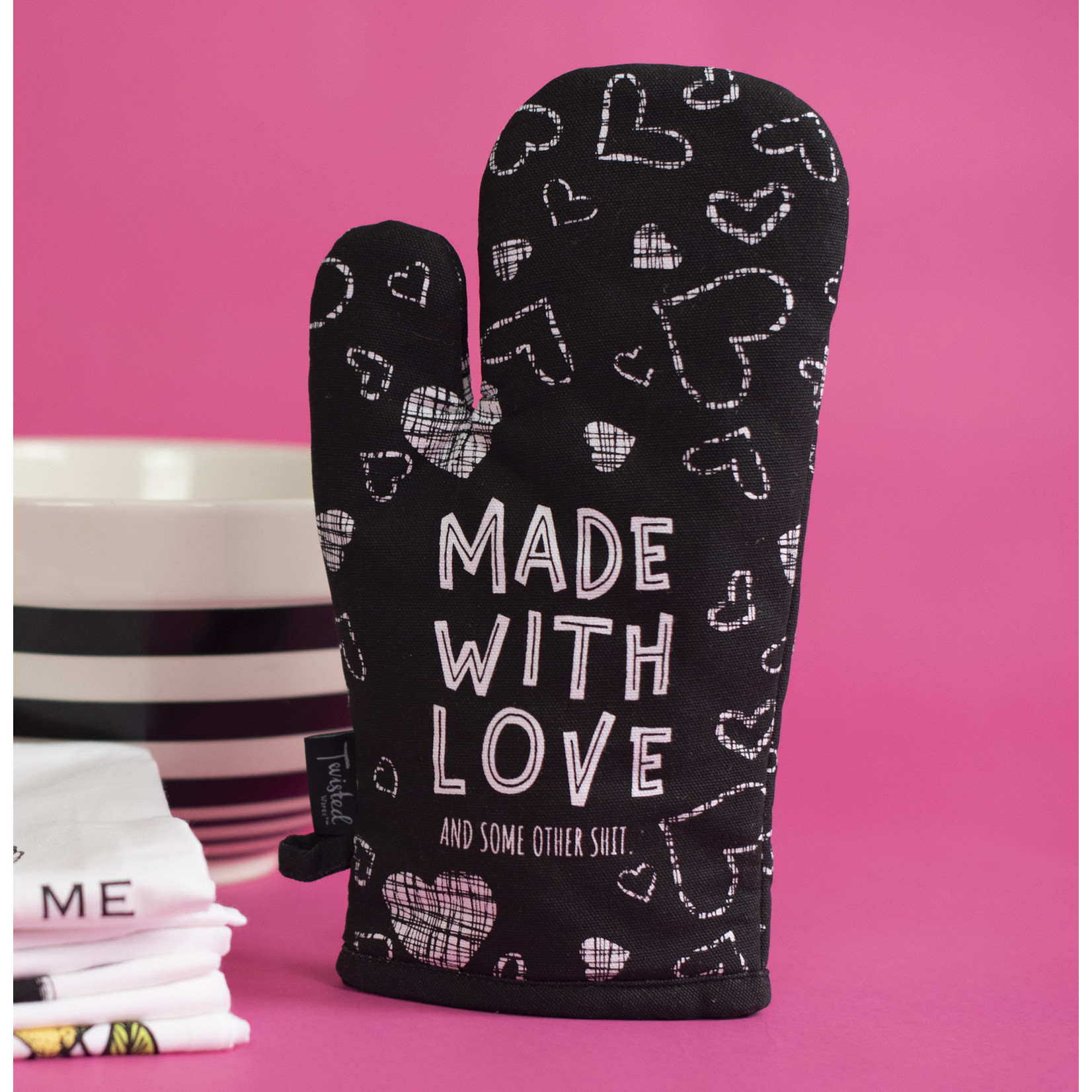 """Twisted Wares """"Made With Love"""" Oven Mitt"""