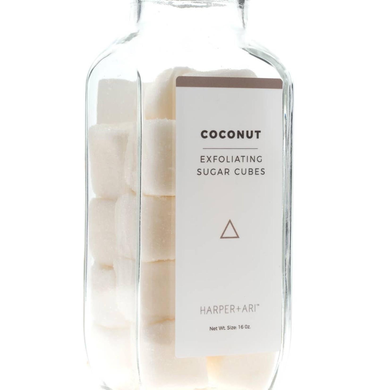 Harper Ari Coconut | Exfoliating Sugar Cubes | 16 oz.