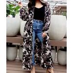 Panache Outerwear: Black Floral Kimono
