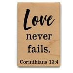 Driftless Studios Magnet: Love Never Fails