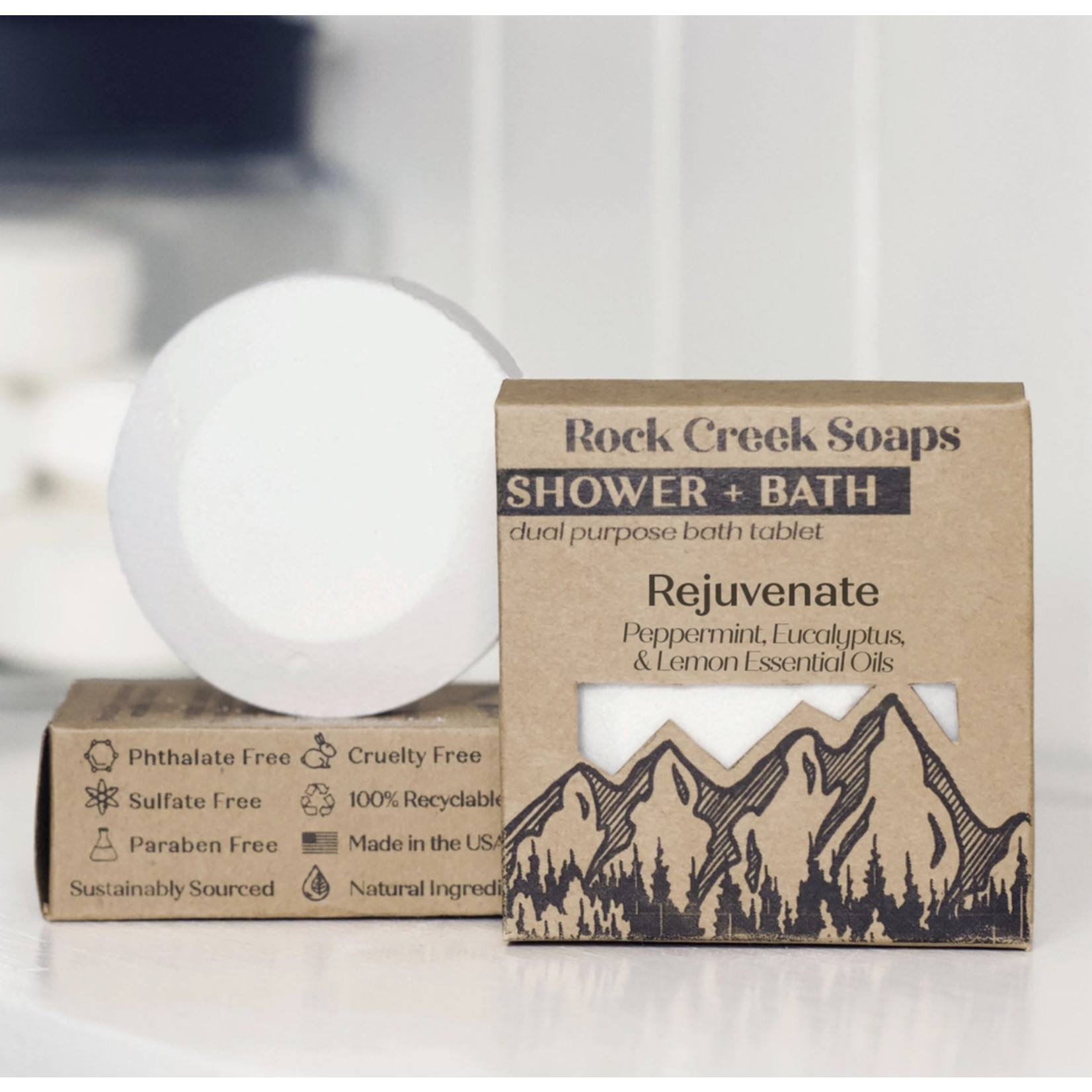 Rock Creek Soaps SHOWER + BATH | Single Tablet: