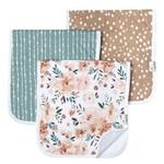 Copper Pearl Baby: Three Pack Burp Cloth Set