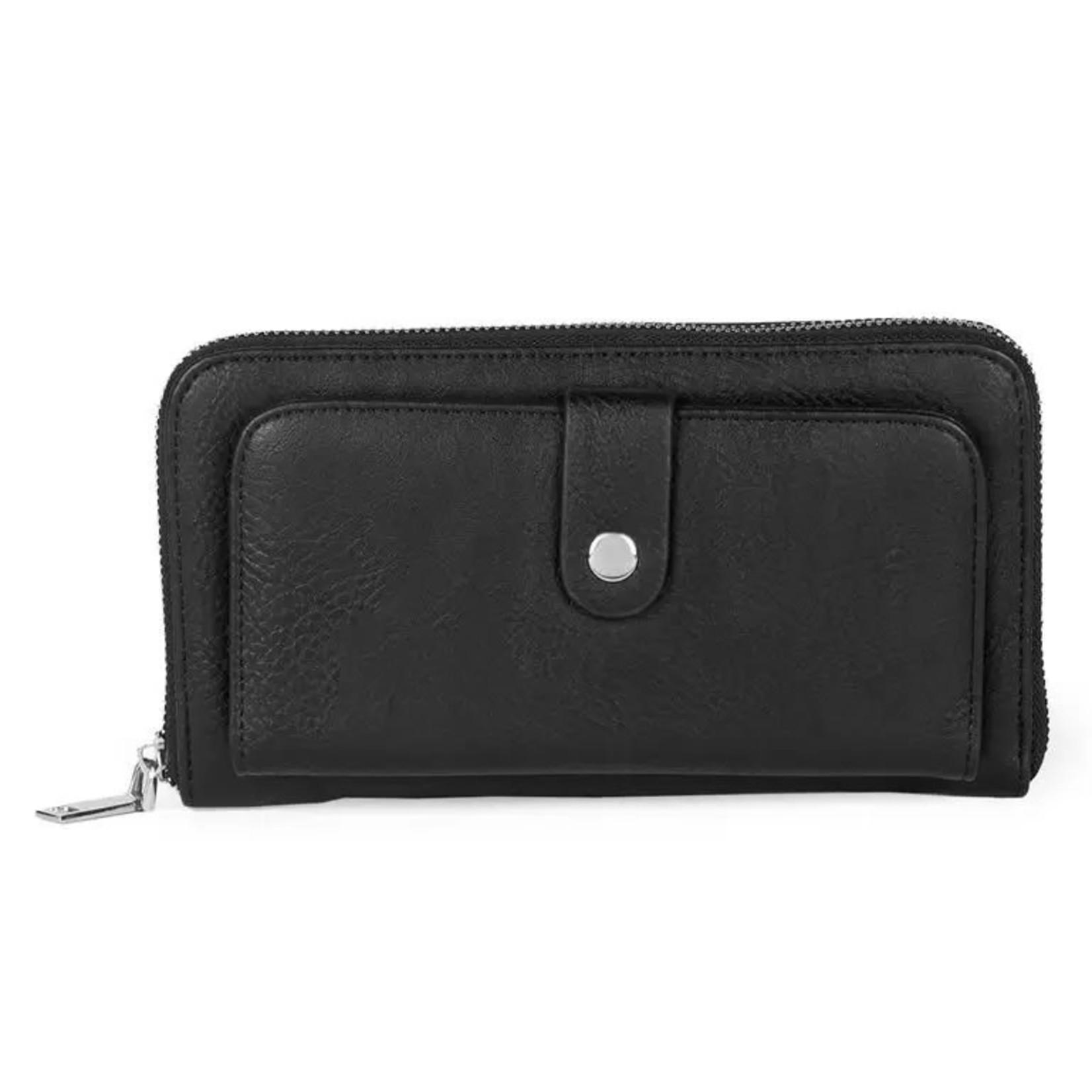 Coco+Carmen Accessories: Black Everyday Organizer Wallet
