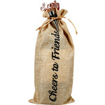 Pavilion Gift Co. Wine Bag: Cheers to Friends