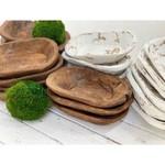 Forever Green Art Wood Bowl: