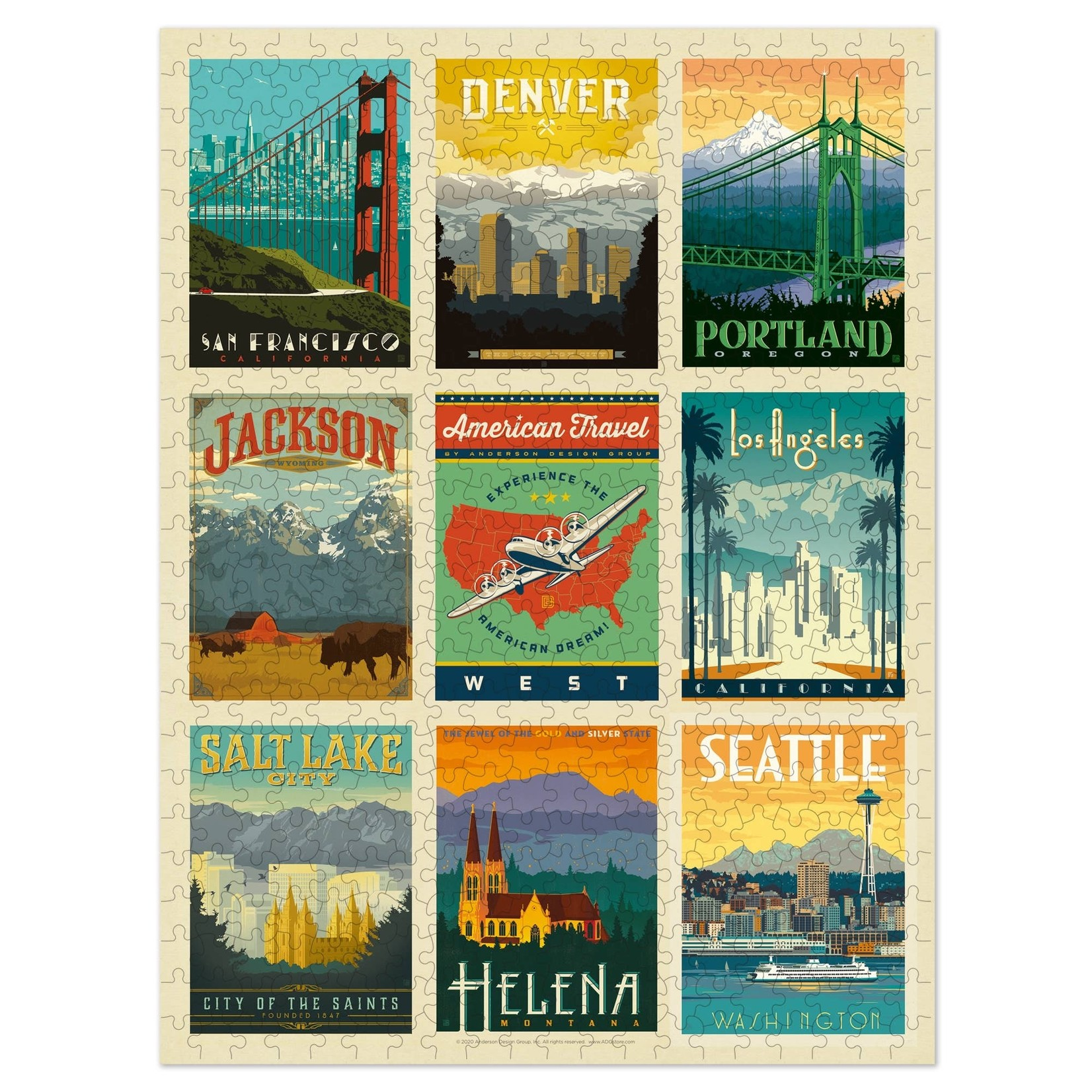 Anderson Design Group Puzzle: American West 500 pc