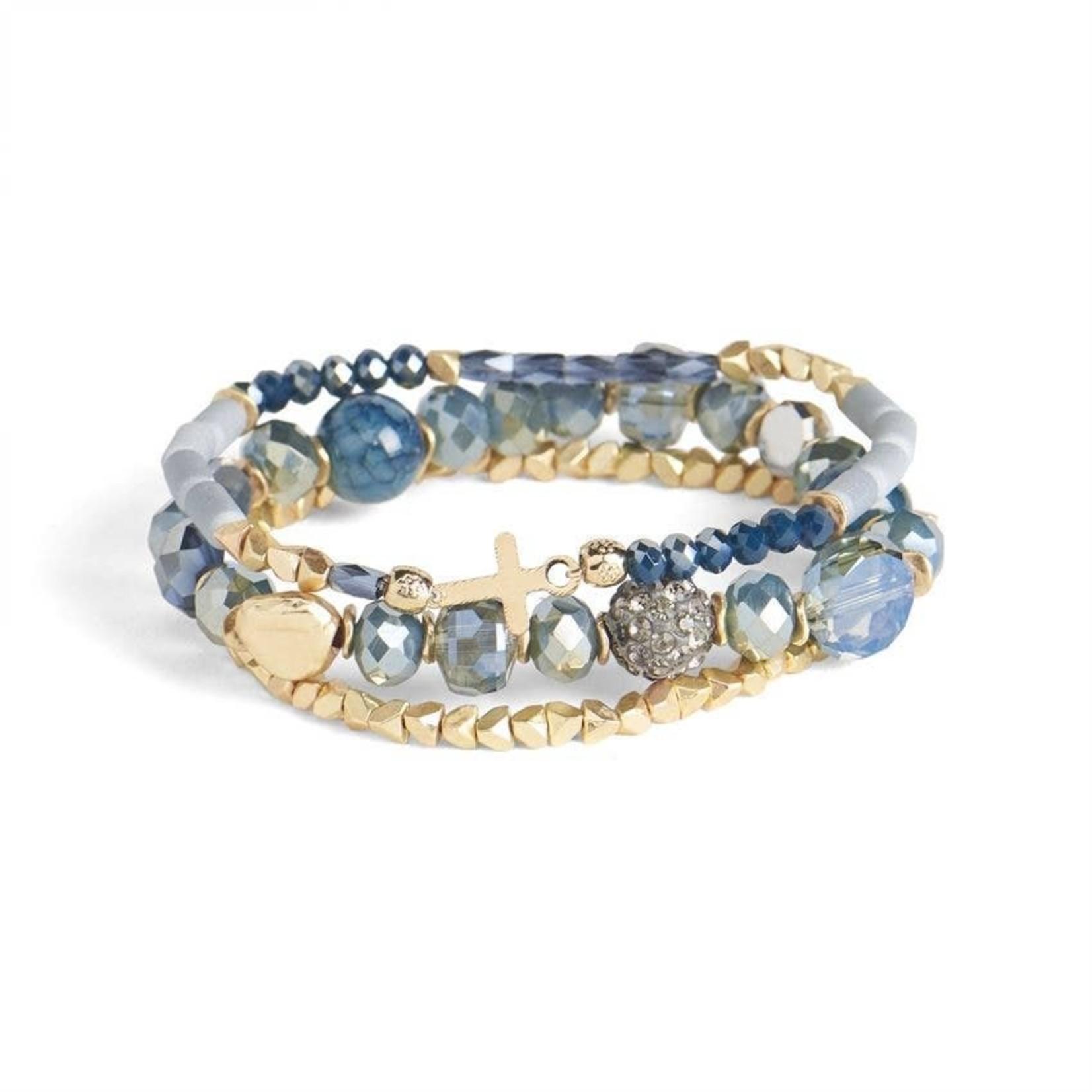 Coco+Carmen Accessories: Have Faith Stretch Bracelet