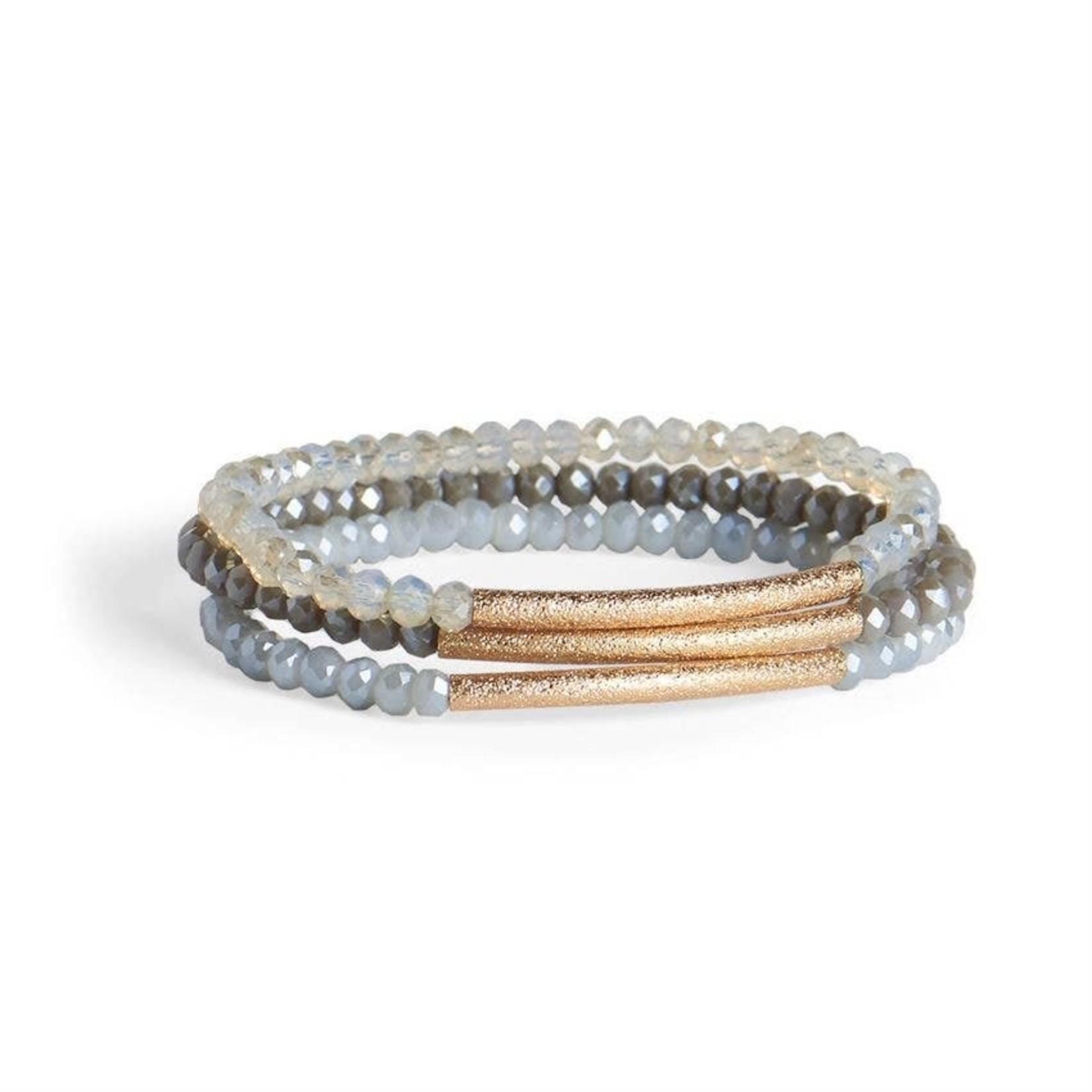 Coco+Carmen Accessories: Shimmering Bar Bracelet Set