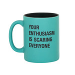About Face Designs, Inc Mug: Scaring Everyone